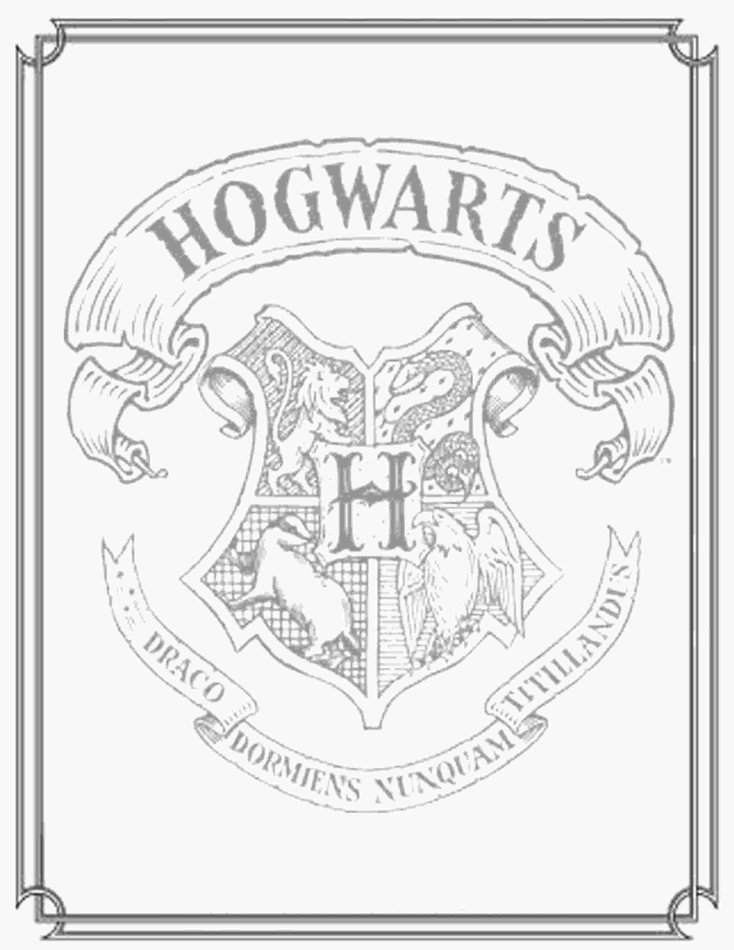 harry potter house coloring pages harry potter coloring pages to download and print for free