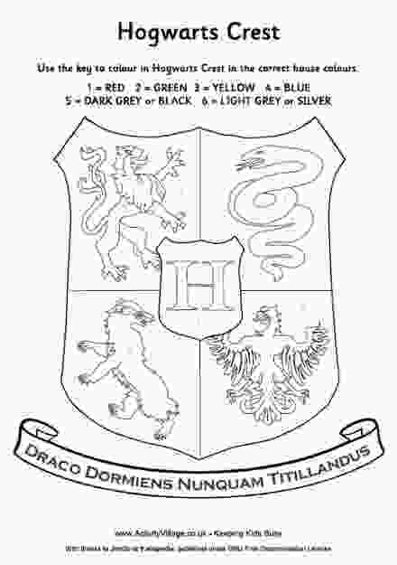 harry potter house coloring pages harry potter house crest coloring pageim thinking we