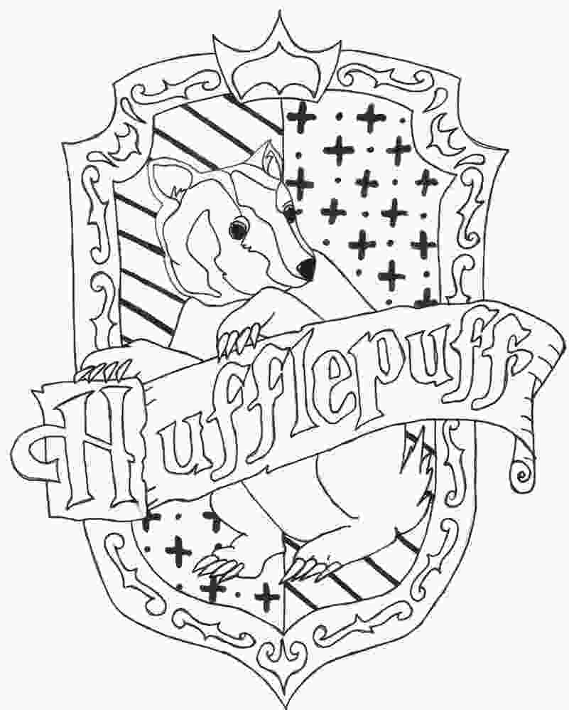 harry potter house coloring pages hufflepuff crest by charr3 on deviantart