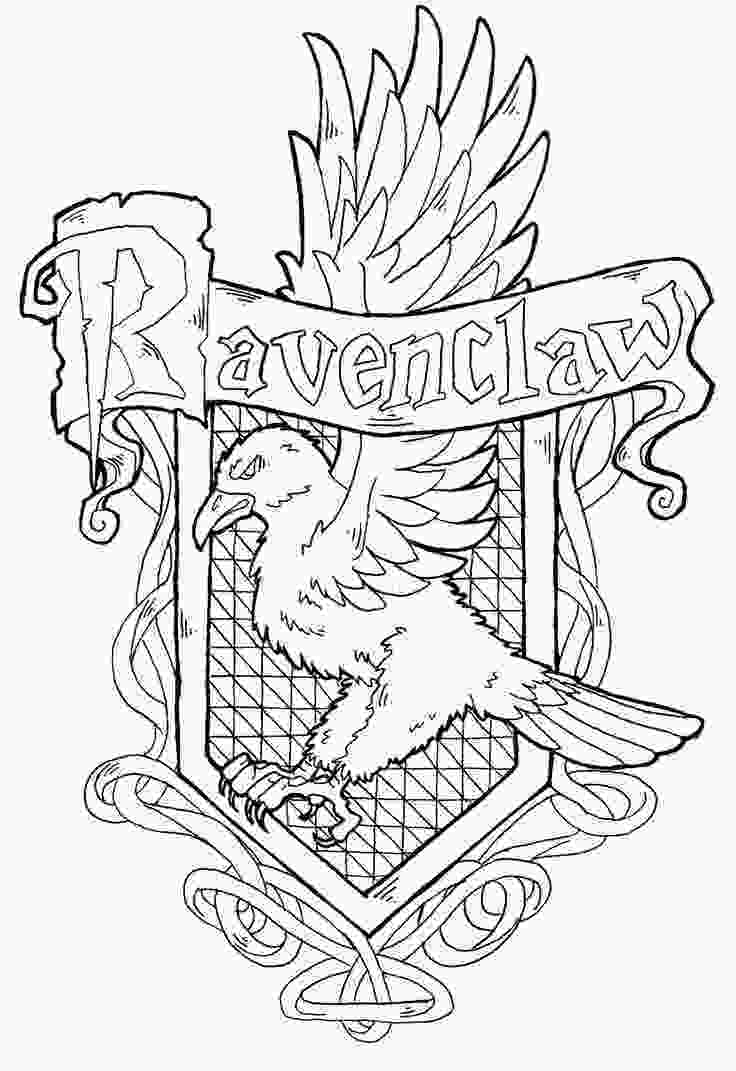 harry potter house coloring pages ravenclaw crest by yamishinendeviantartcom harry