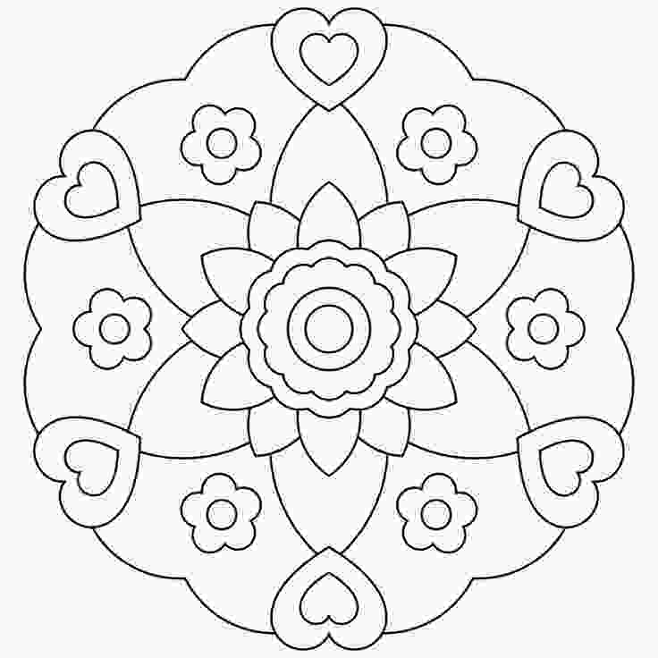 mandalas to color free free printable mandalas for kids best coloring pages for 2