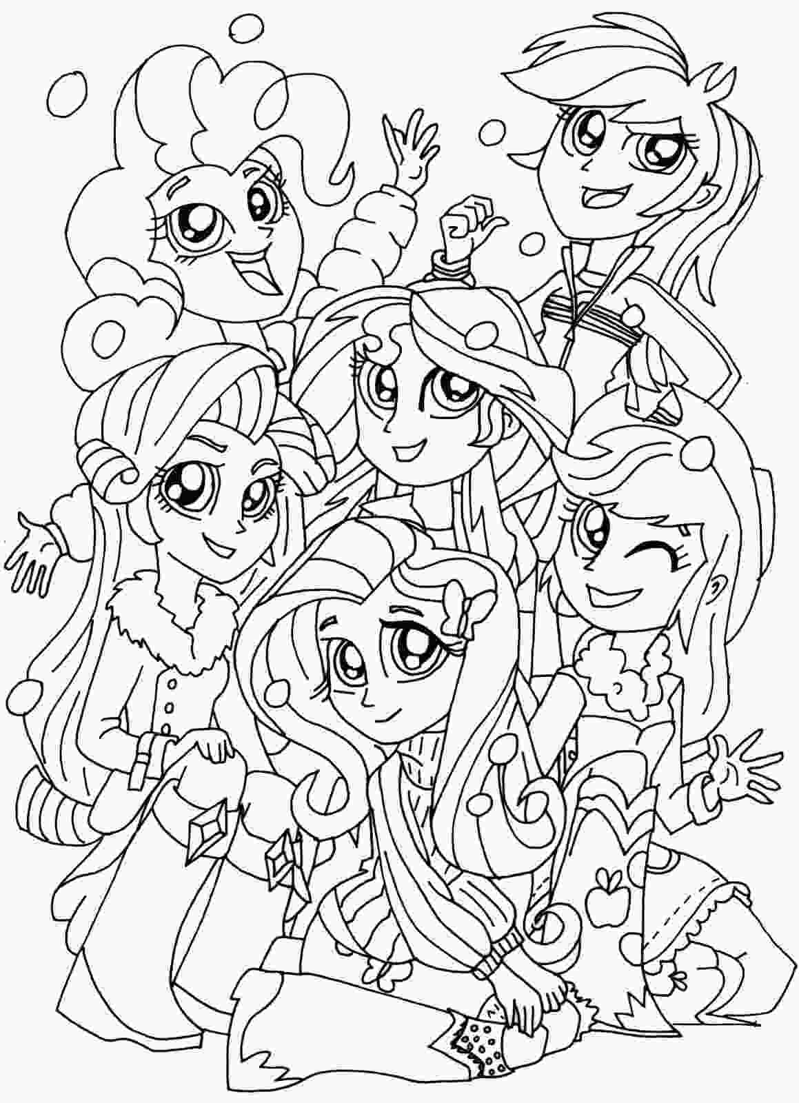 my little pony color in my little pony equestria girls coloring pages