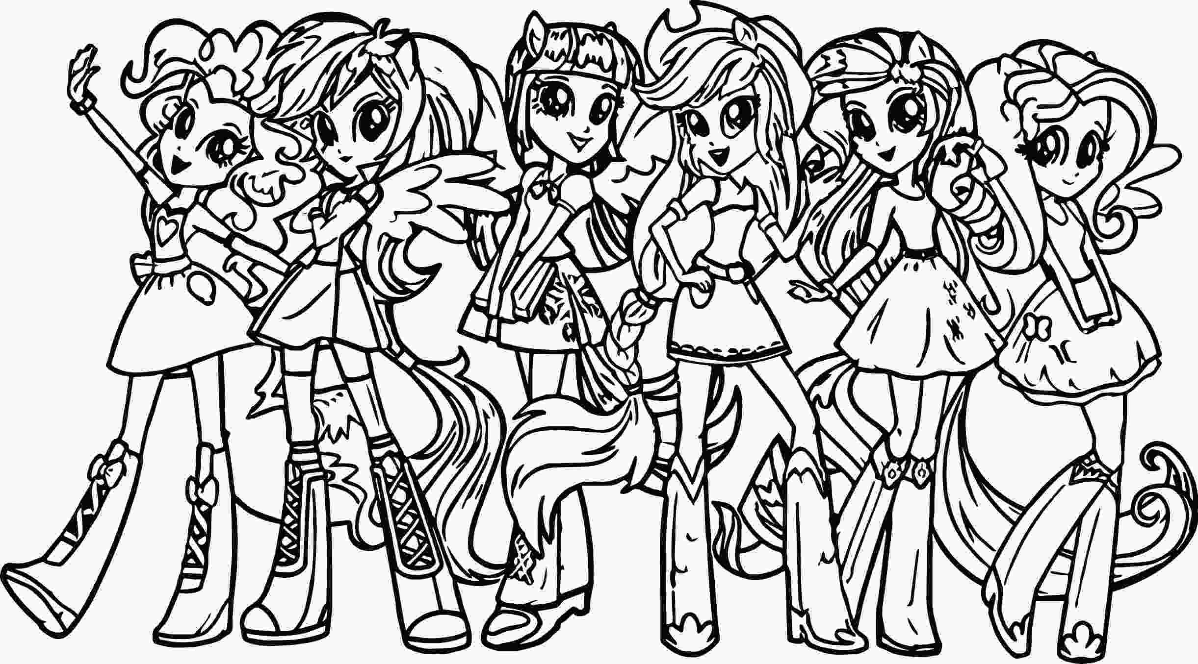 my little pony color in my little pony human coloring pages to print coloring