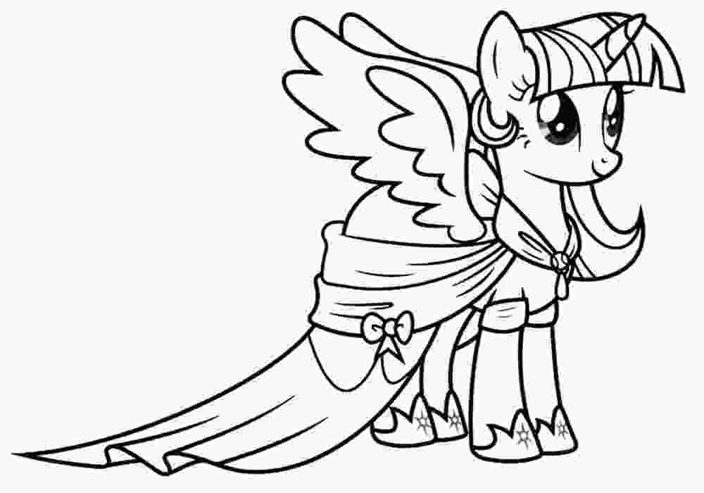 my little pony color in twilight sparkle coloring pages to download and print for free