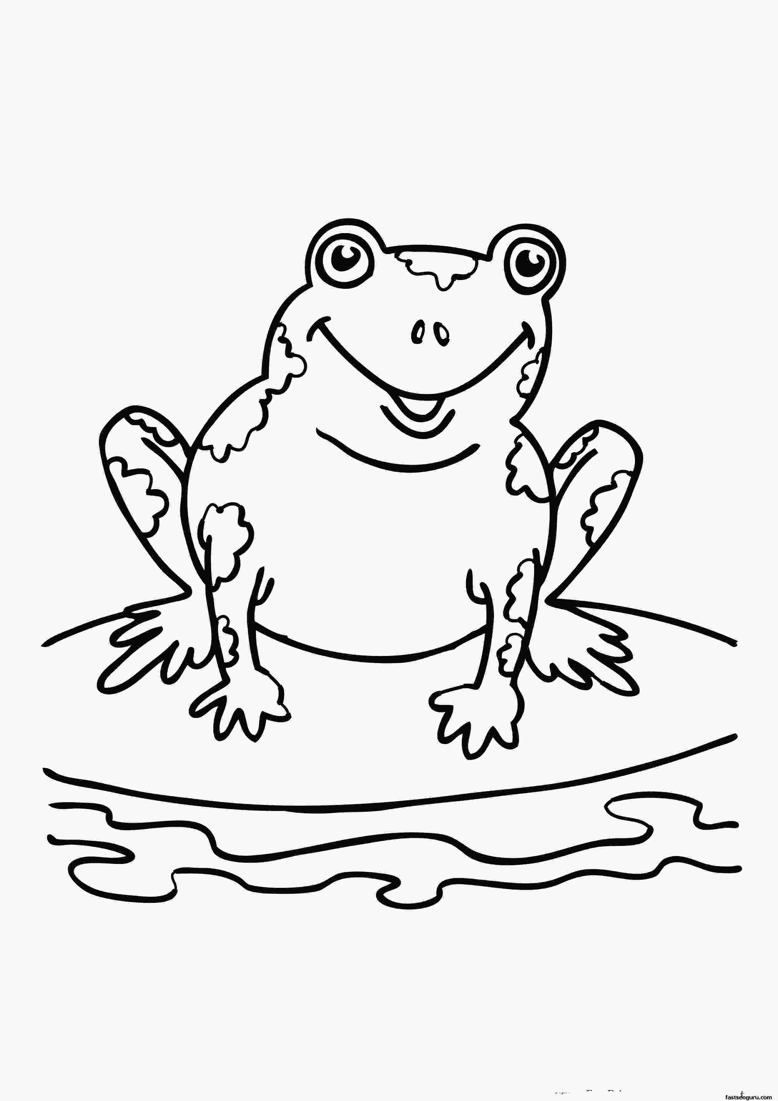 pictures of frogs to color free printable frog coloring pages for kids 1