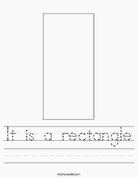 rectangle coloring worksheet it is a rectangle worksheet twisty noodle