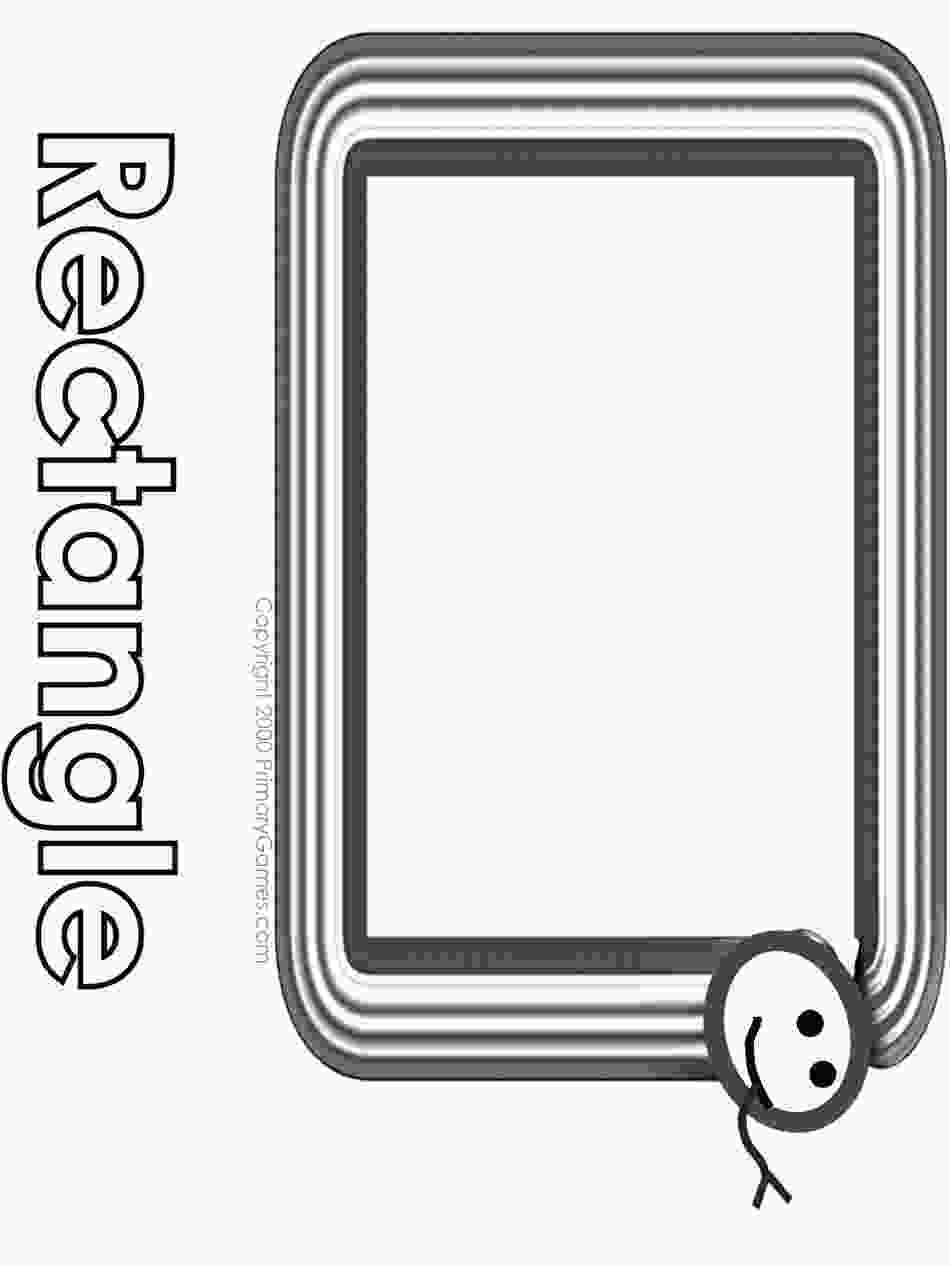 rectangle coloring worksheet rectangle printable coloring pages