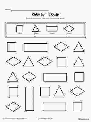 rectangle coloring worksheet shapes color by code square triangle rectangle diamond