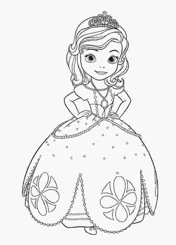 sofia coloring page princess sofia the first going to dance coloring page netart