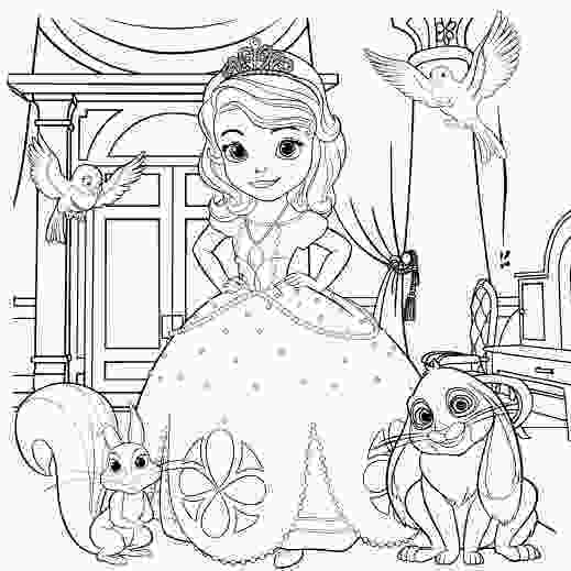 sofia coloring page sofia the first coloring pages bestofcoloringcom