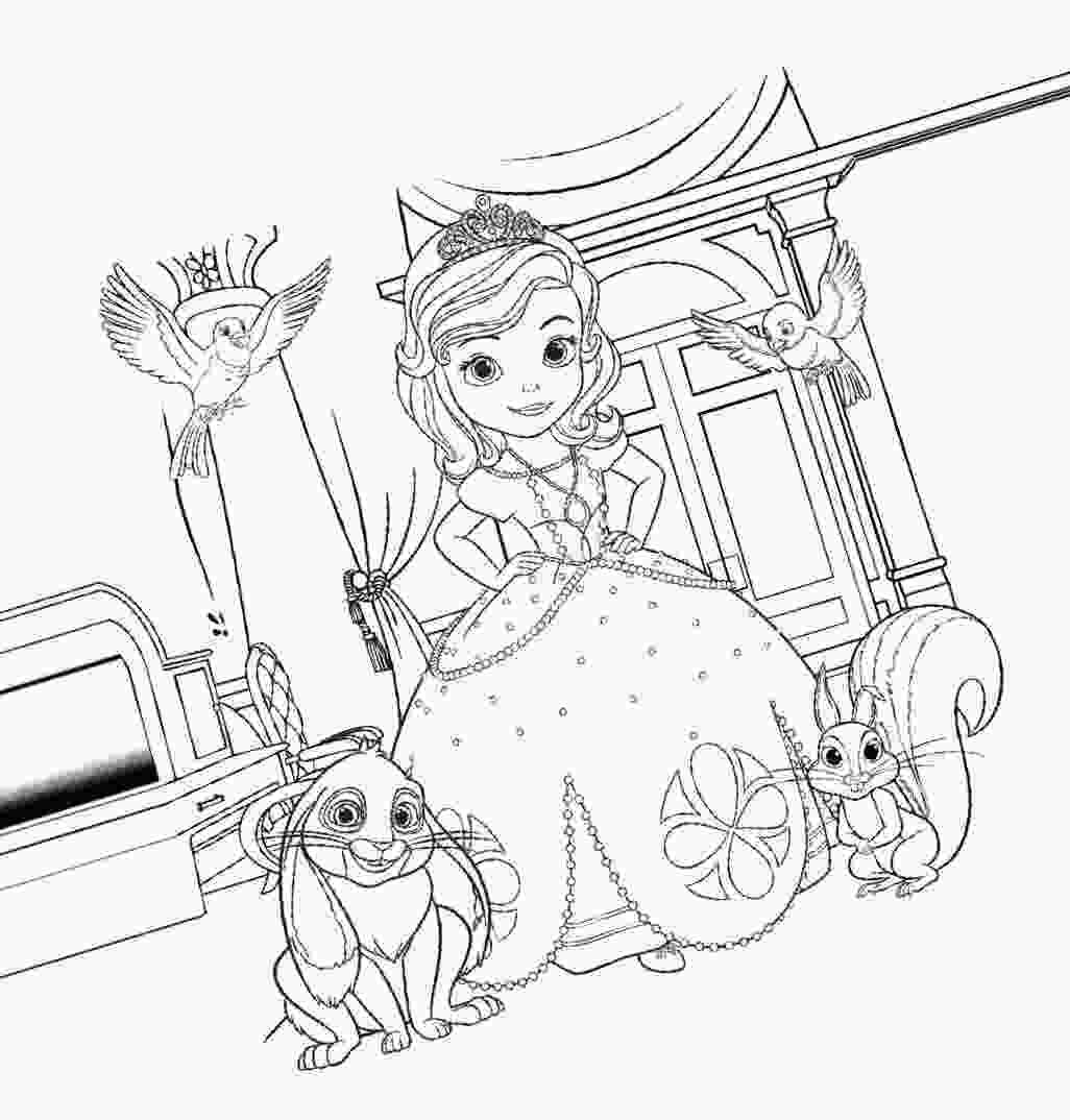 sofia coloring page sofia the first coloring pages for girls to print for free