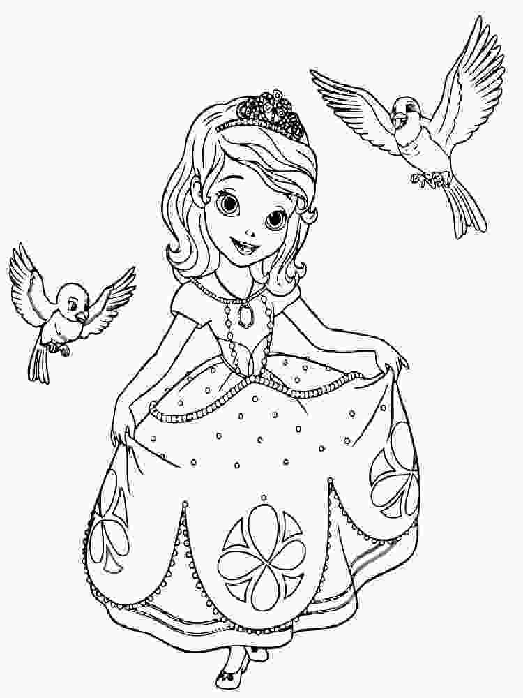 sofia coloring page sofia the first coloring pages free printable sofia the