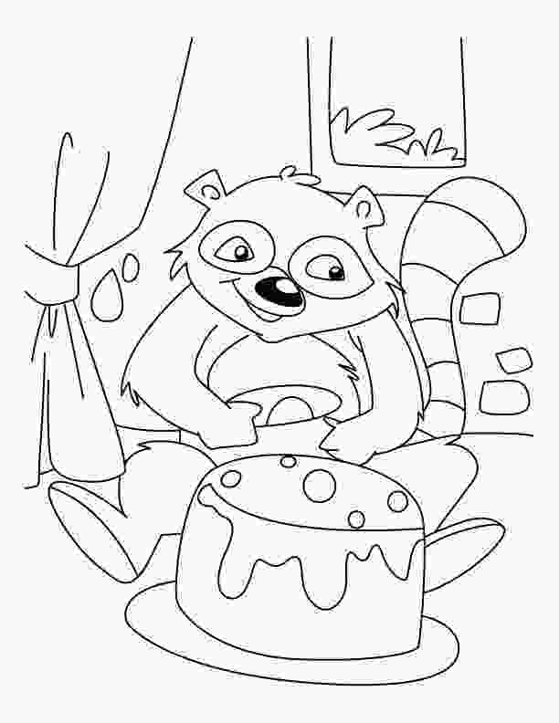 baby raccoon coloring page baby raccoon coloring pages coloring home