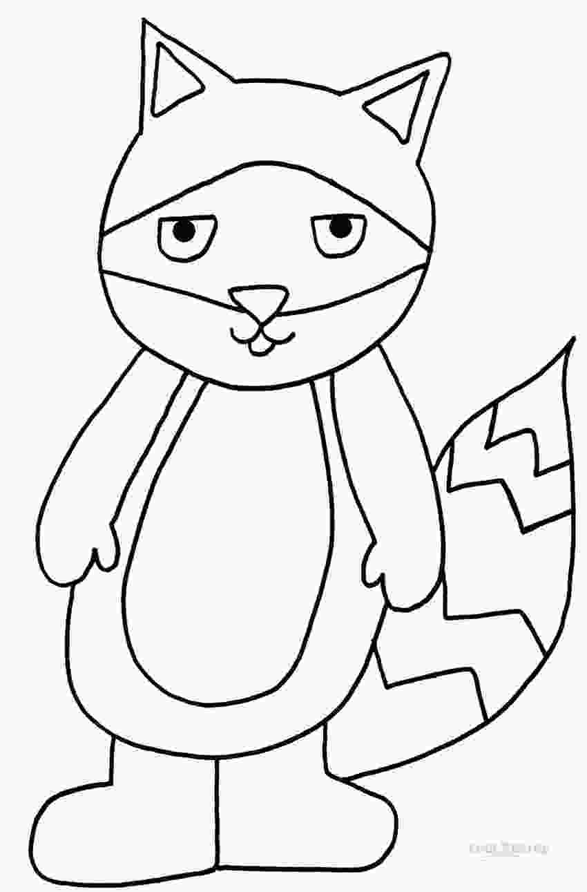 baby raccoon coloring page printable raccoon coloring pages for kids cool2bkids 2