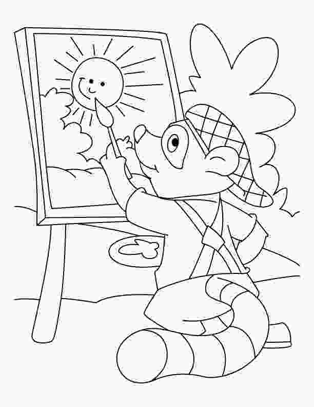 baby raccoon coloring page raccoon coloring pages to download and print for free