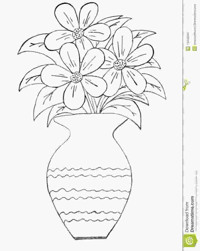 coloring flowers with colored pencils draw the flower vase in 2019 flower vase drawing flower