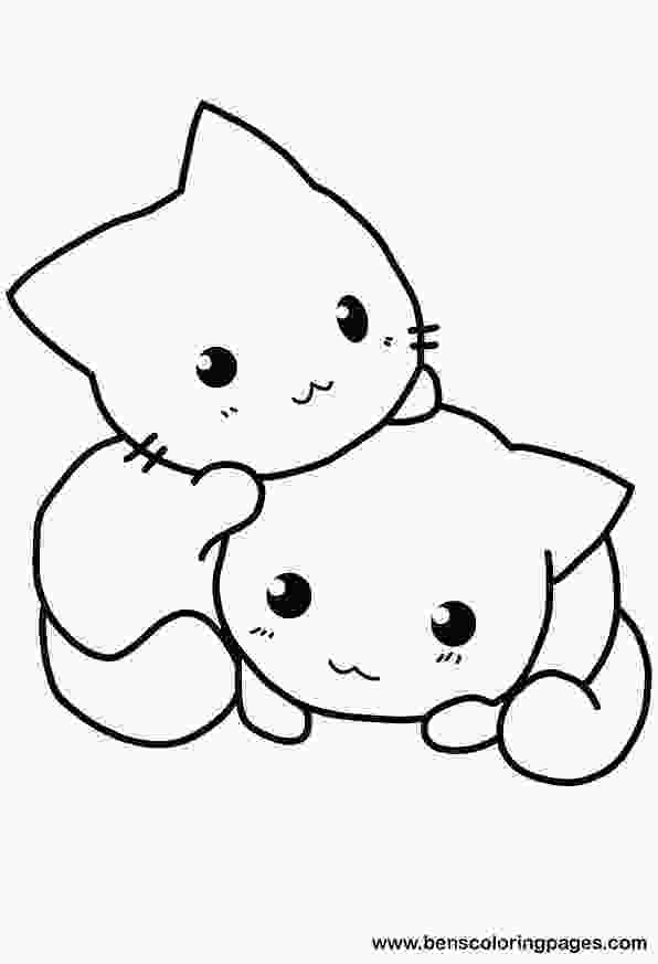 coloring images cute cute cat coloring pages to download and print for free