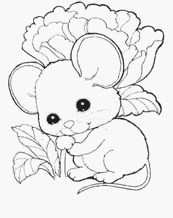 coloring images cute cute mouse coloring pages free kids coloring pages