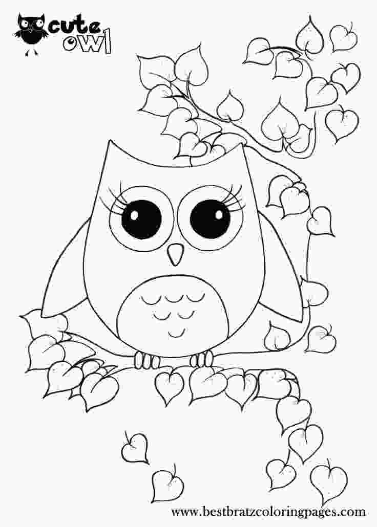 coloring images cute cute owl coloring pages doodles owl coloring pages