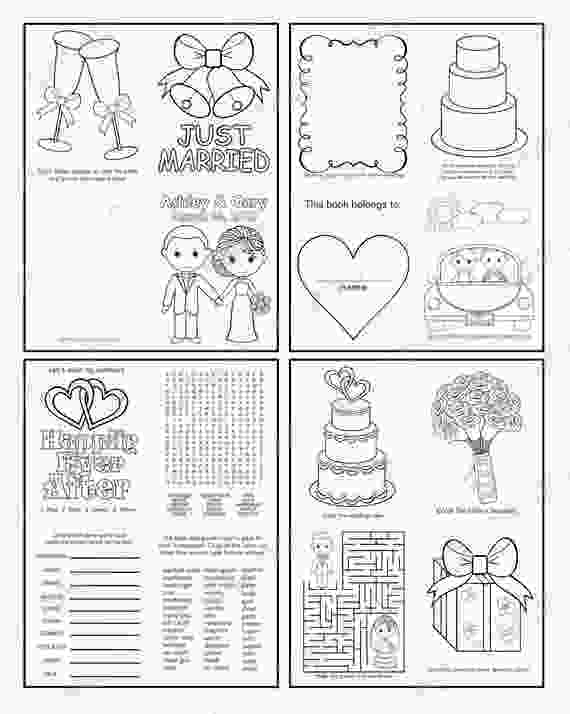 coloring wedding activities for kids mini printable personalized wedding coloring activity book
