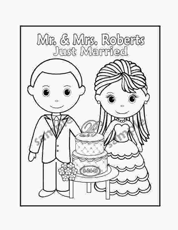 coloring wedding activities for kids printable personalized wedding coloring activity book favor