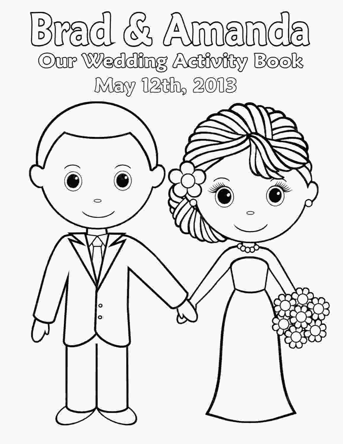 coloring wedding activities for kids printable personalized wedding coloring activity book
