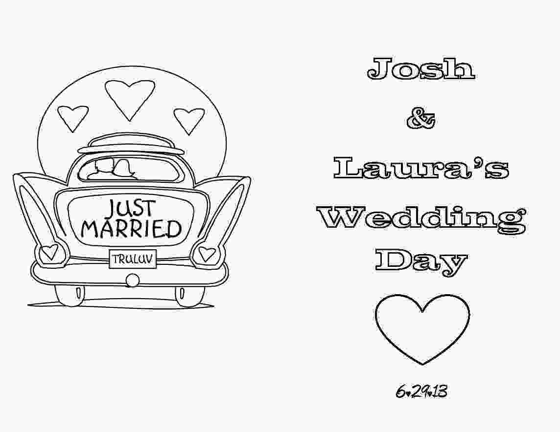 coloring wedding activities for kids then i searched the web to find coloring pages or