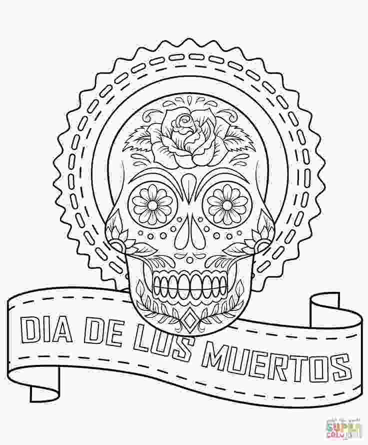 el dia de los muertos skull coloring pages 266 best images about halloween crafts on pinterest