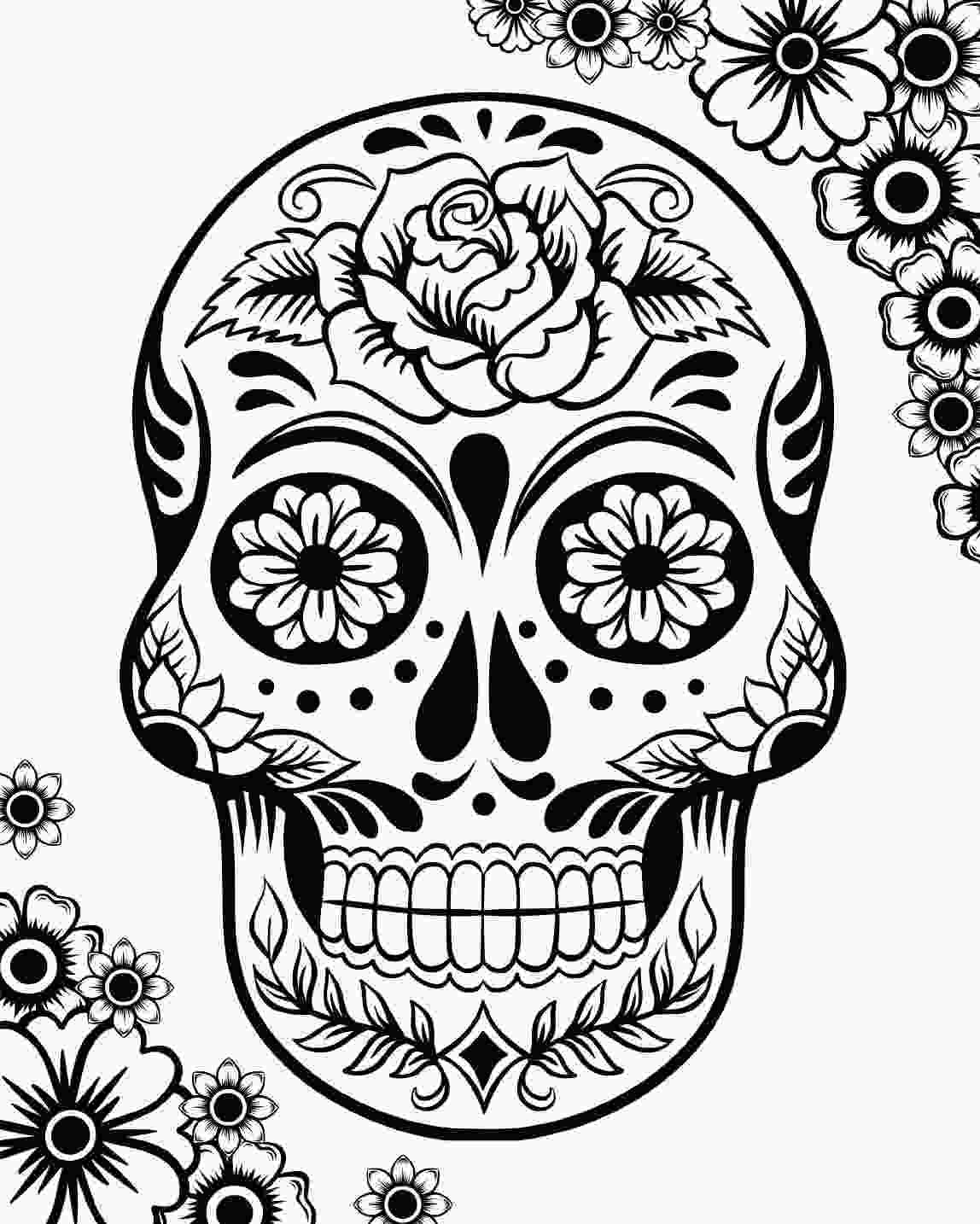el dia de los muertos skull coloring pages free printable day of the dead coloring pages best