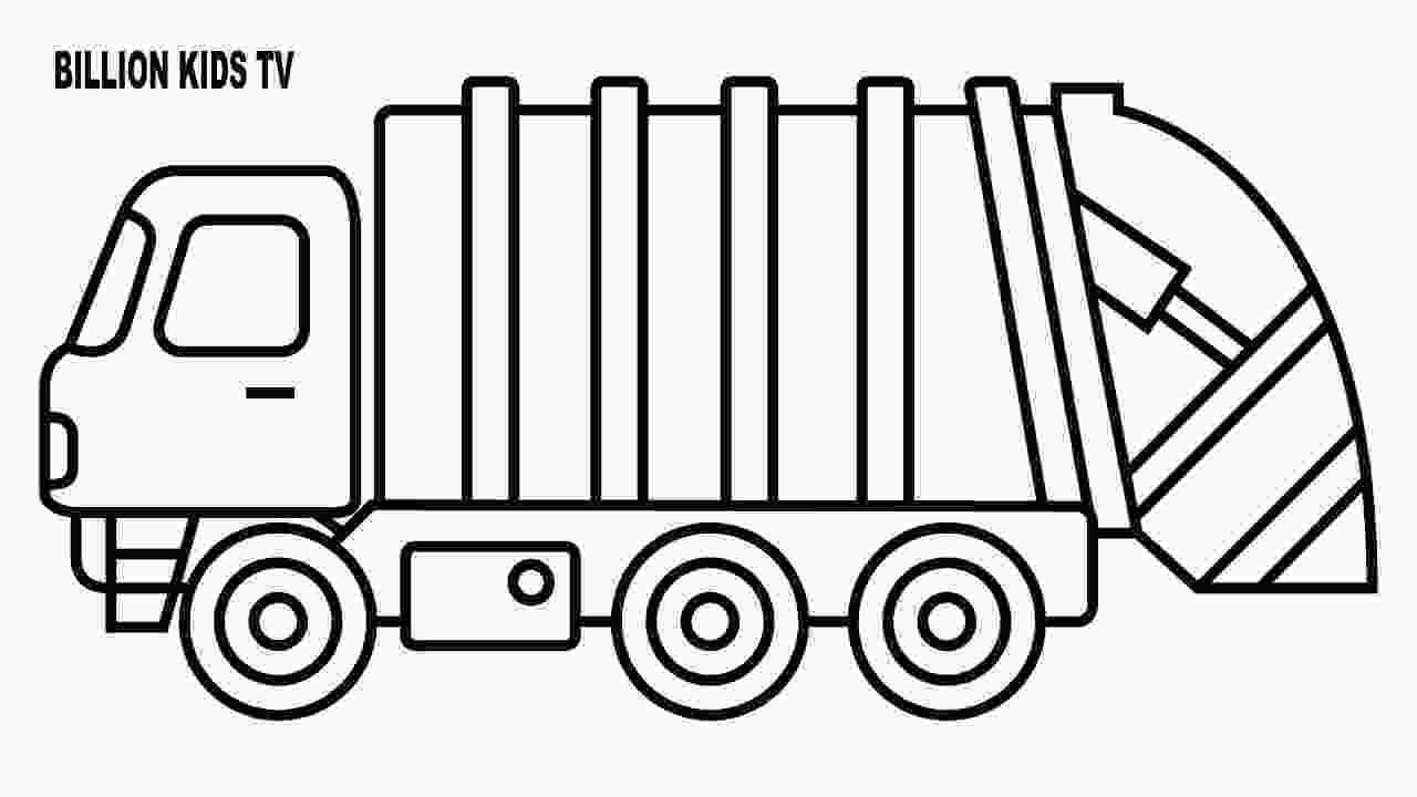 garbage truck coloring page pdf 25 inspiration image of dump truck coloring pages