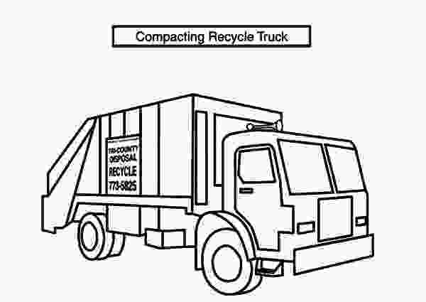 garbage truck coloring page pdf compacting recycle garbage truck coloring pages download