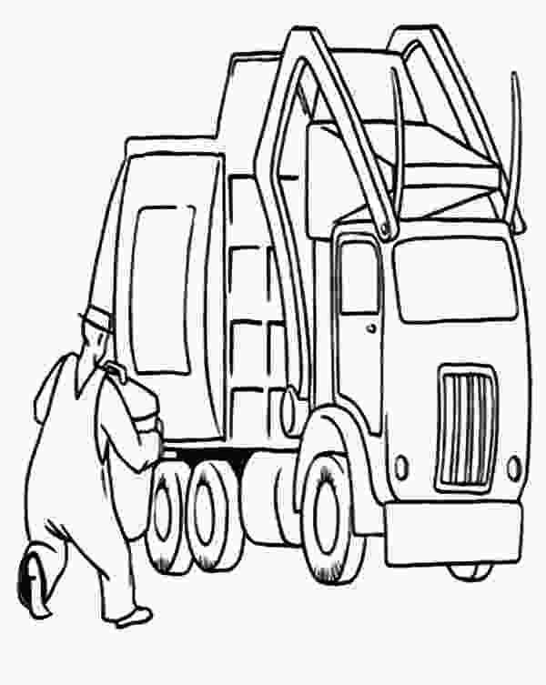 garbage truck coloring page pdf download online coloring pages for free