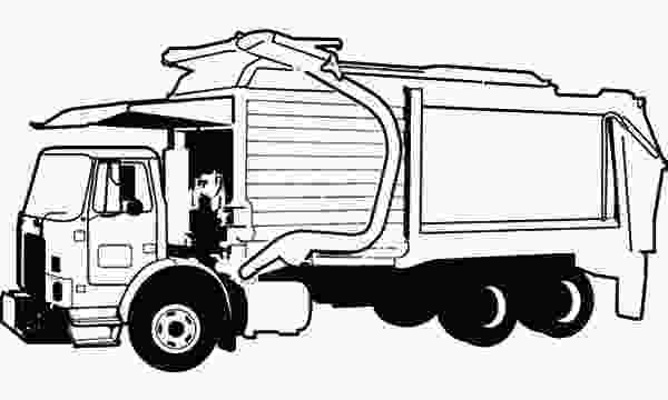garbage truck coloring page pdf garbage truck picture coloring pages download amp print