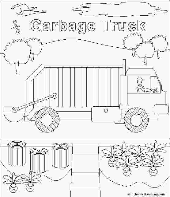 garbage truck coloring page pdf garbage truck template trash truck 3rd birthday