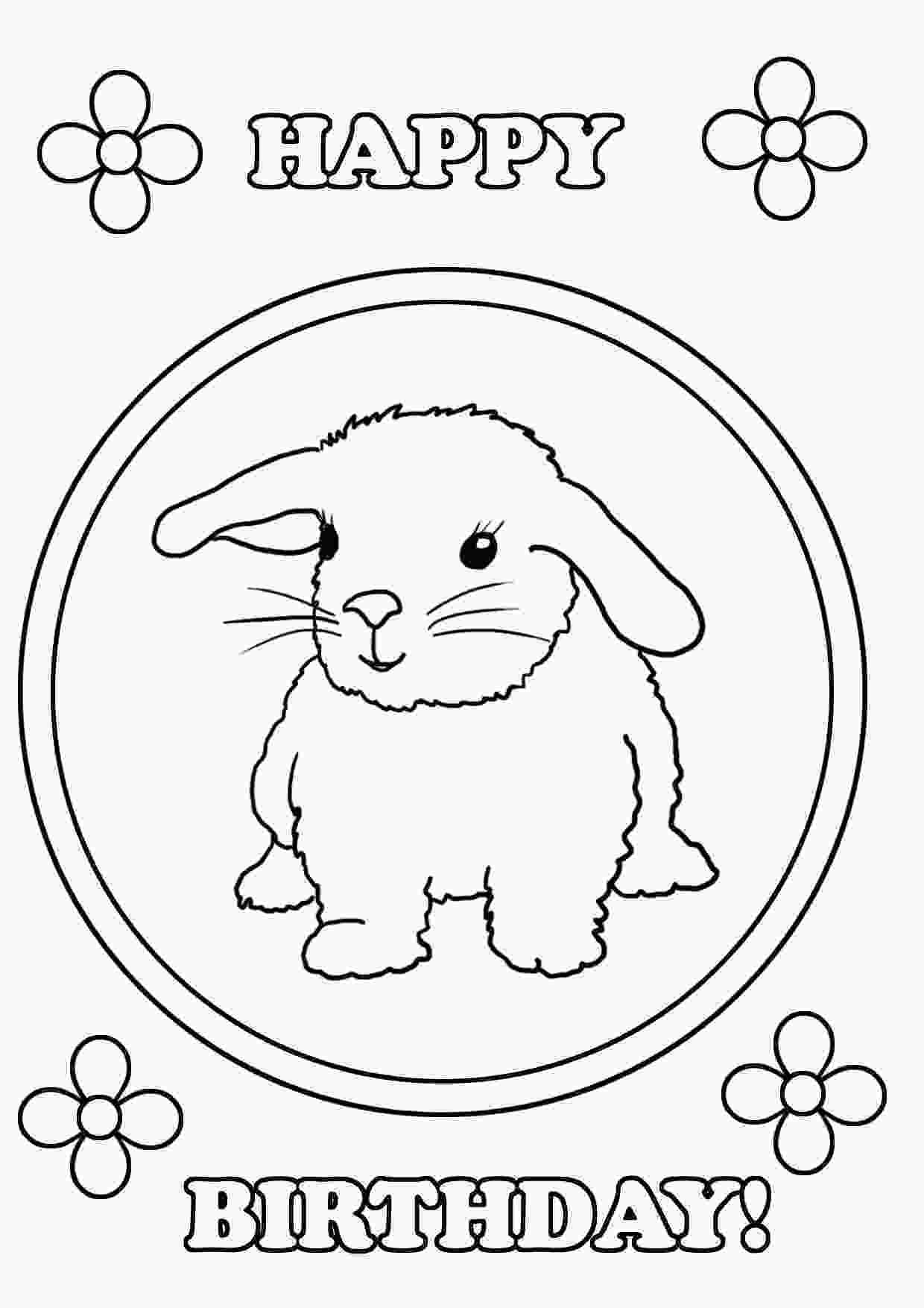 happy bunny coloring pages birthday coloring pages