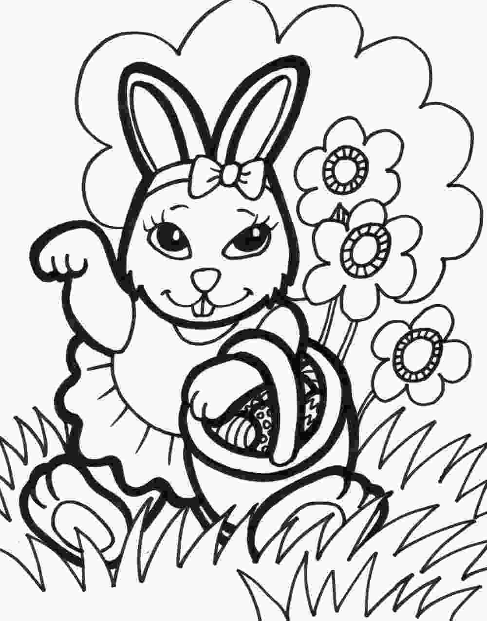 happy bunny coloring pages easter bunny coloring pages to print to download and print