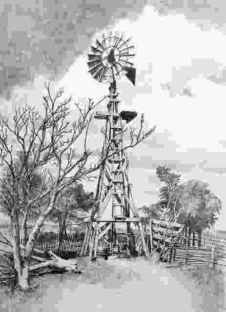 how to draw a farm windmill 618 best old west fenceswindmillsbldg images on