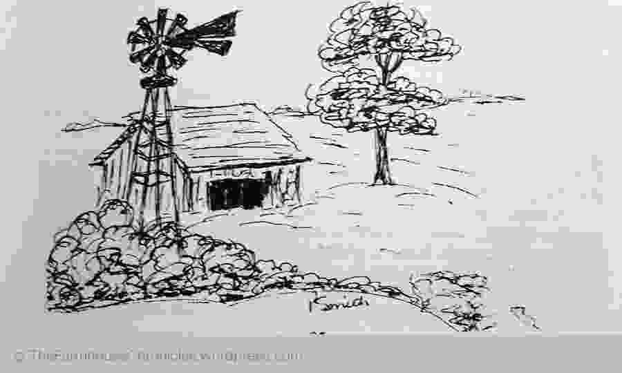 how to draw a farm windmill as the story is told a farmers life the farmhouse