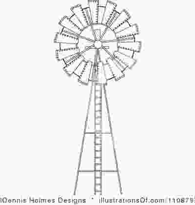 how to draw a farm windmill black and white cartoon barn windmill clipart 1108797