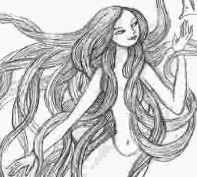 how to draw mermaid artghost another mermaidgiant hair drawing