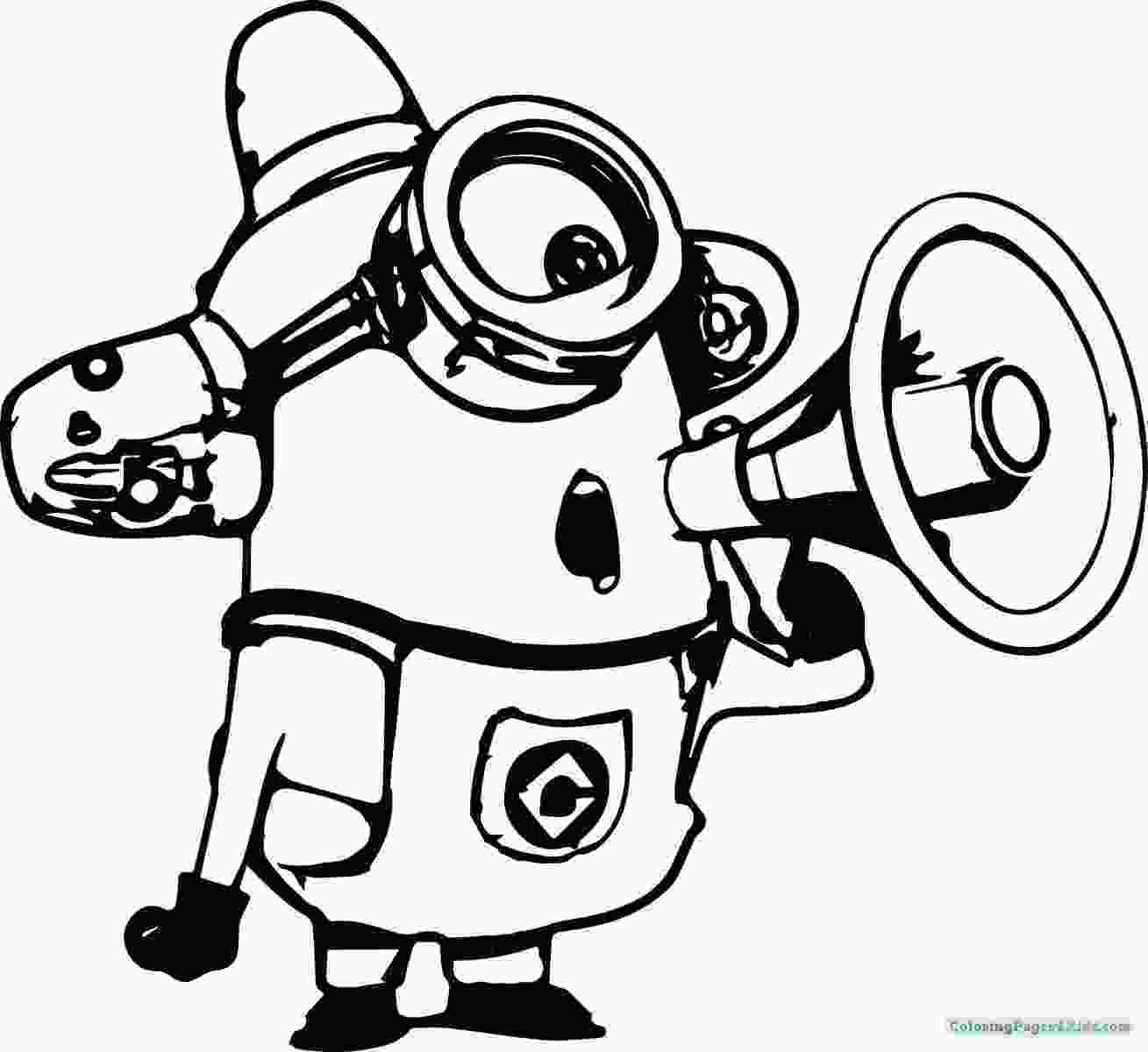 minions for coloring coloring pages minions fireman coloring pages for kids