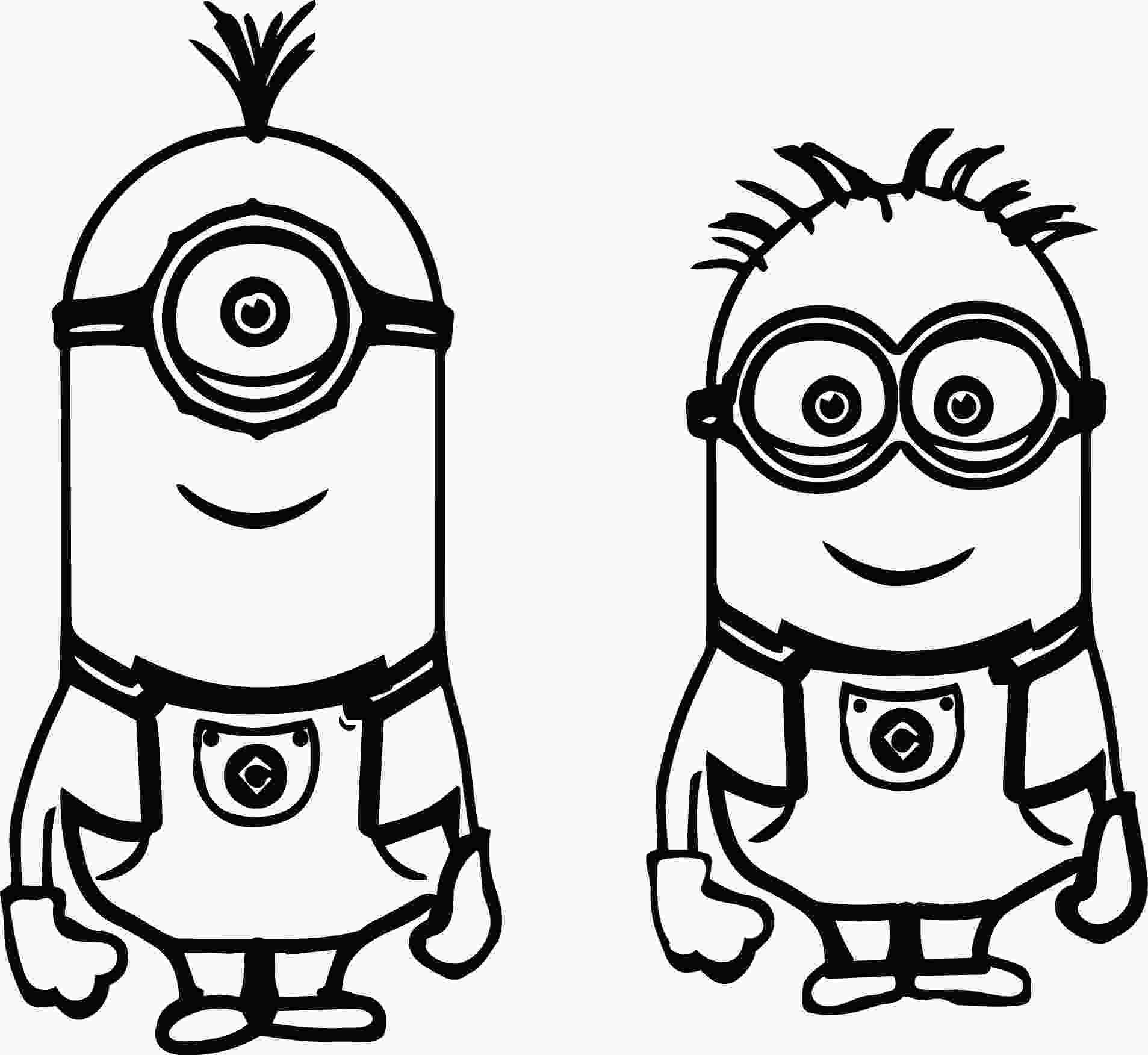minions for coloring kevin bob despicable me 2 minions coloring page