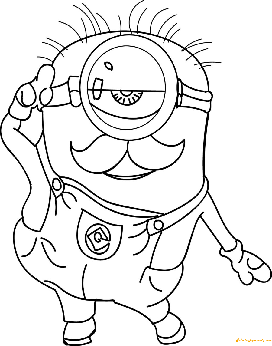 minions for coloring minion cute coloring page free coloring pages online
