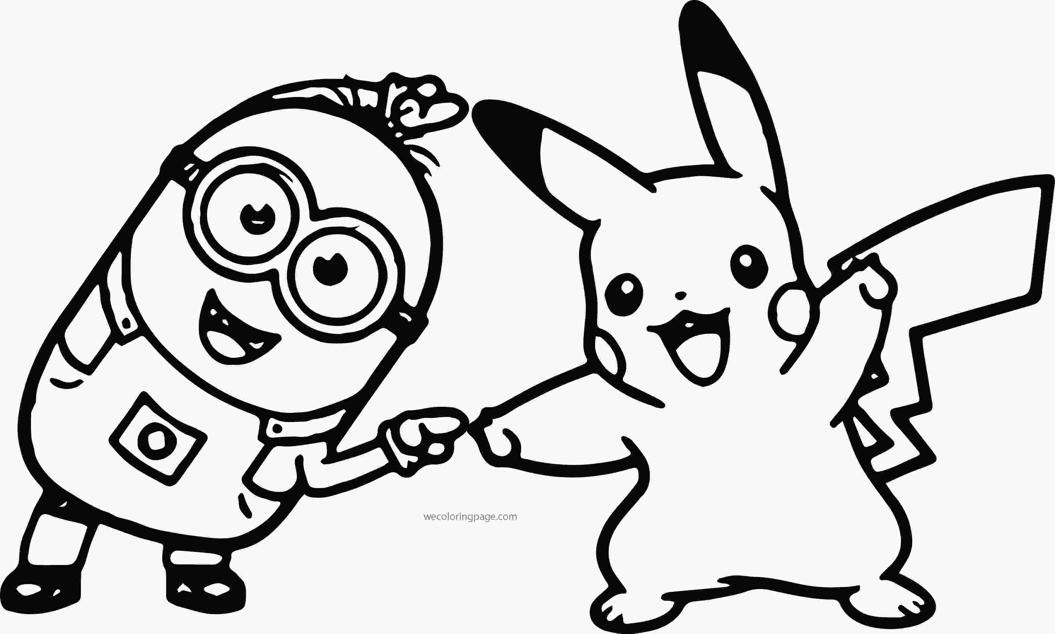 minions for coloring minion pikachu dance pokemon coloring page
