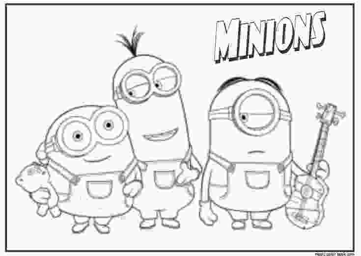 minions for coloring minions free coloring pages for kids איתי pinterest