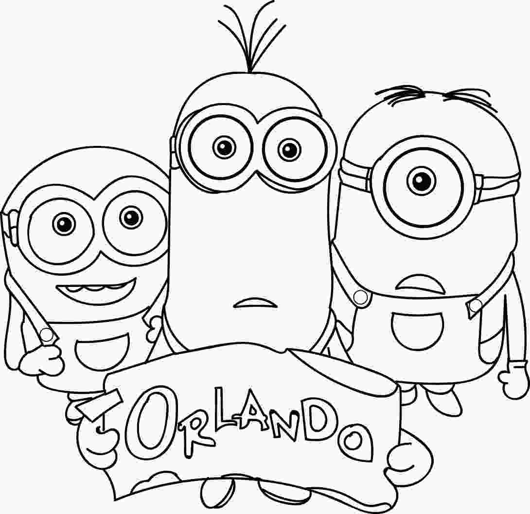 minions for coloring