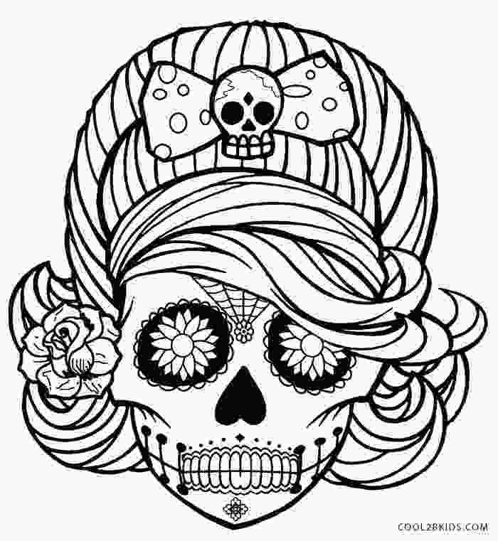 skulls coloring pages printable skulls coloring pages for kids cool2bkids 1