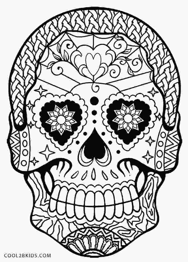 skulls coloring pages printable skulls coloring pages for kids cool2bkids