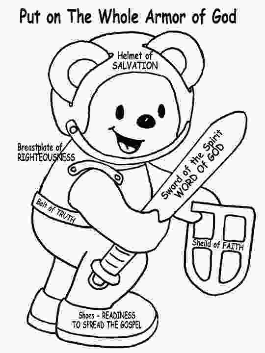 armor of god coloring page armor of god teddy bear for the small kids to color