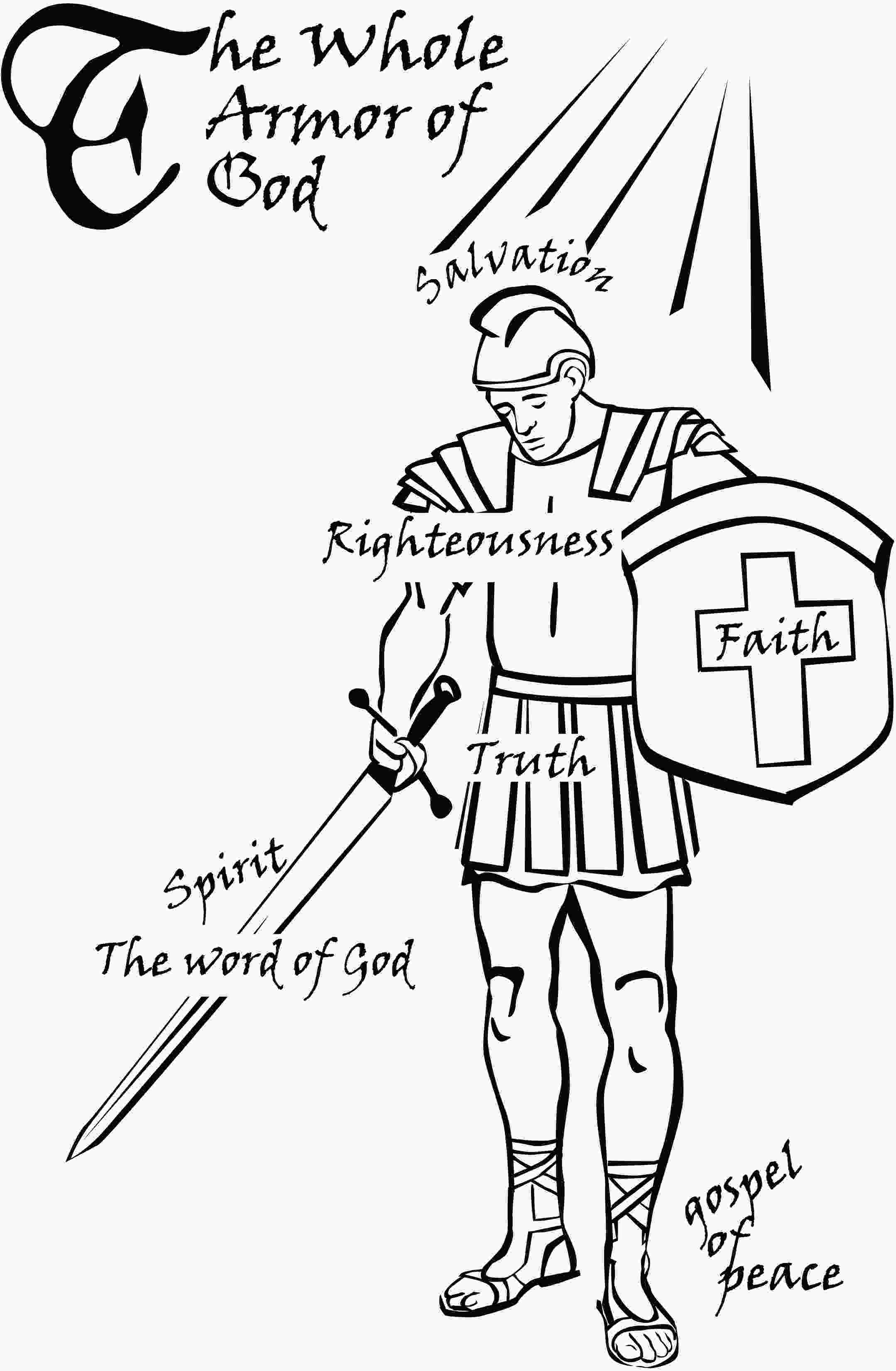 armor of god coloring page wholelistic christian ministries blog spot